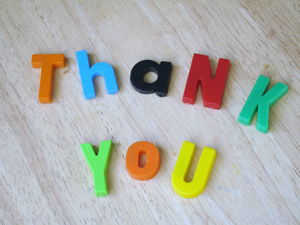 Encouraging Volunteers – The Power of a Thank You