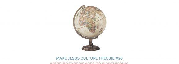 Freebie #20-Josh Davis: Worship Experiences or Worshipping Communities?