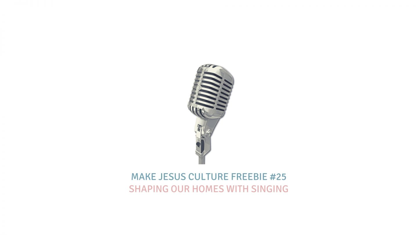 Freebie #25-Keith Getty: Shaping Our Homes With Singing