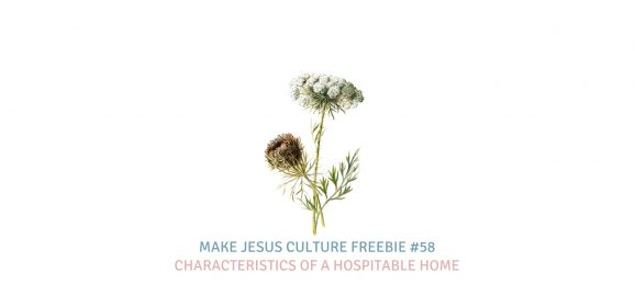 Freebie #58-Megan Keyes: Characteristics of a Hospitable Home